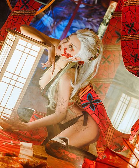 コスプレイヤー 堕姫 写真