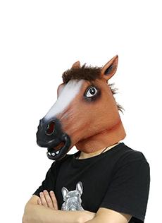 ハロウィン 馬の頭マスク